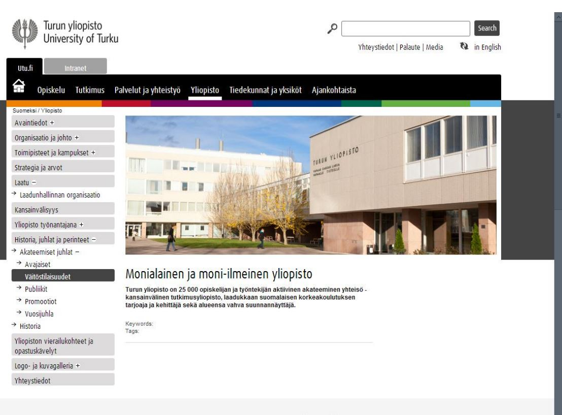 SharePoint deployment in Turku University (Finland)
